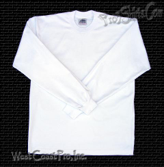 White Pro 5 Long Sleeve T Shirts ( Single White Tee )
