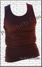 Brown Pro 5 Wife Beater Shirts